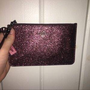 Coach Wristlet / Wallet - Purple Sparkles